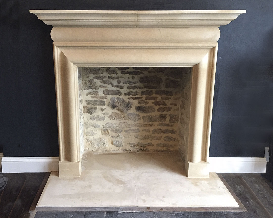 Bath Stone Bolection Fireplace-0